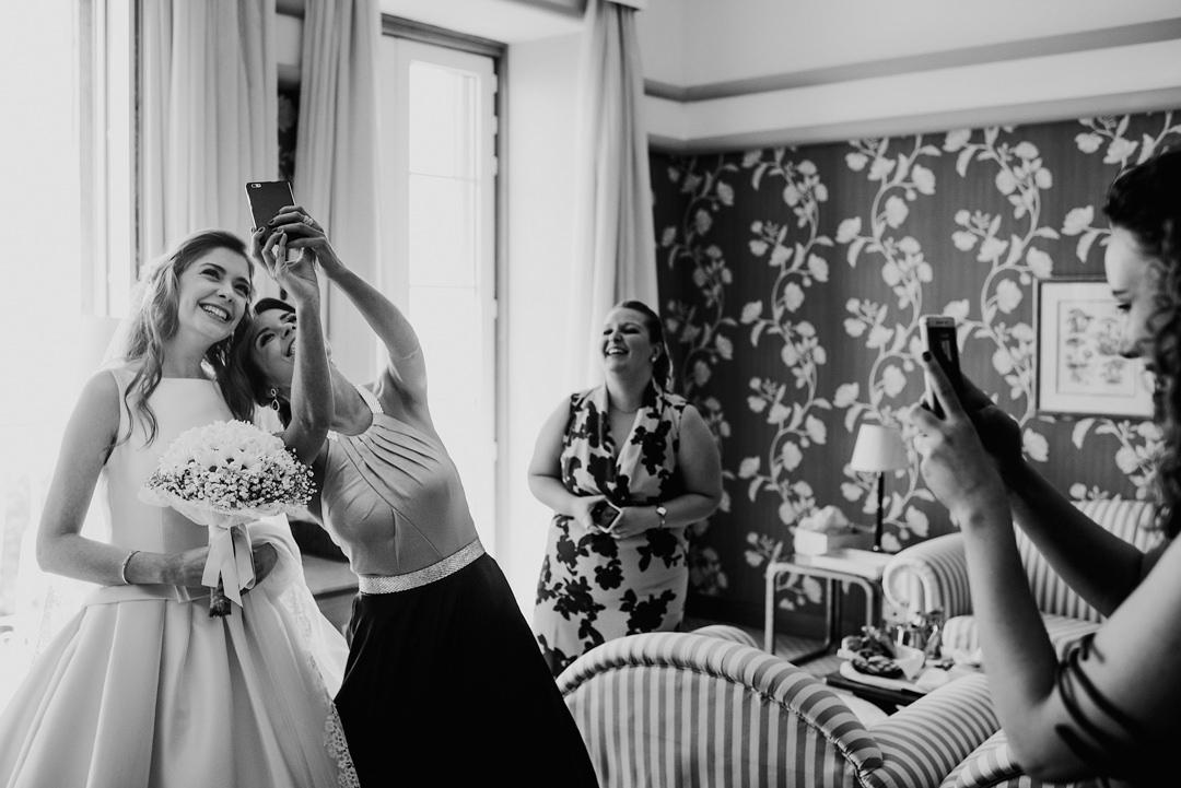 selfies no casamento
