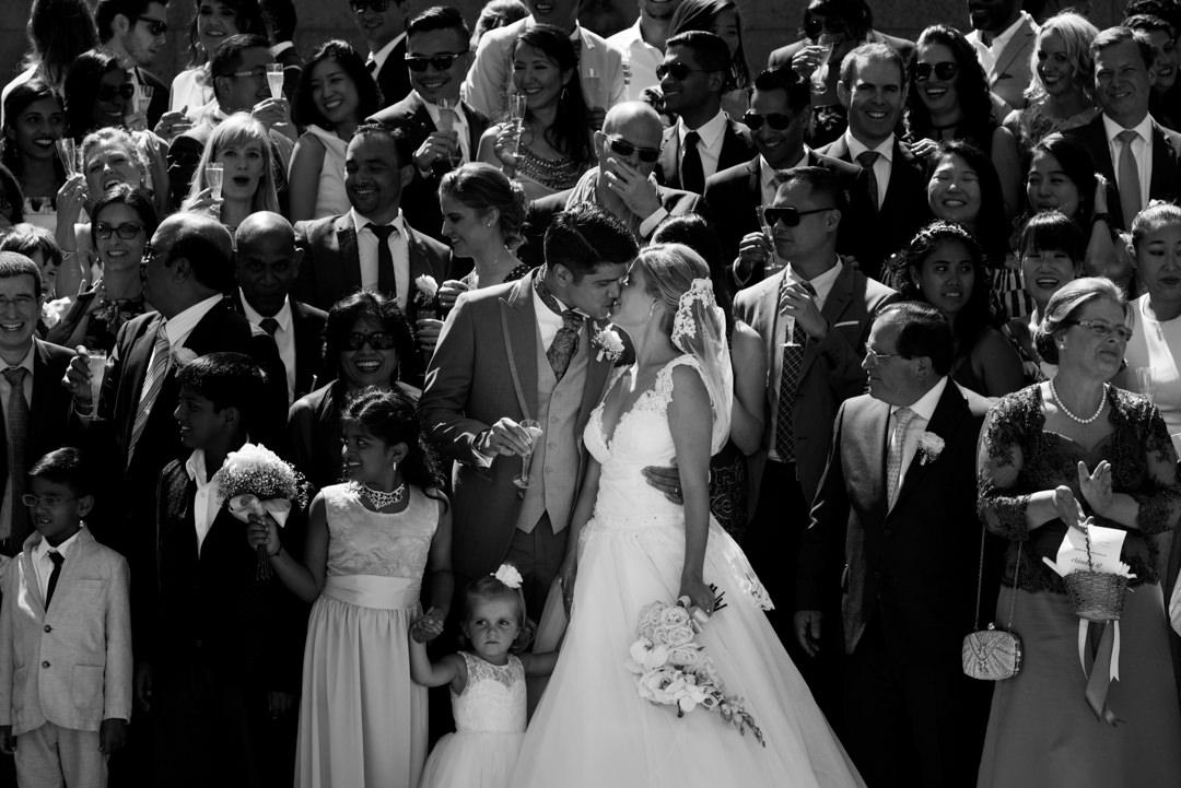 fotografia de grupo de casamento