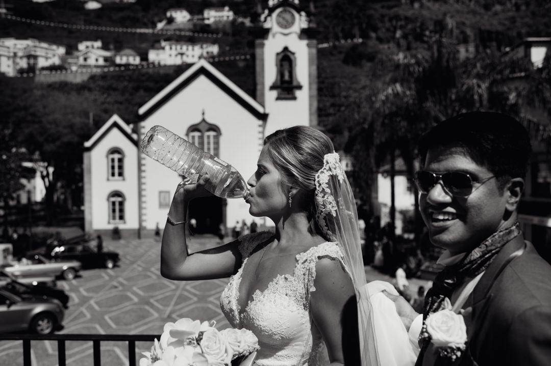 casamento em dia de calor