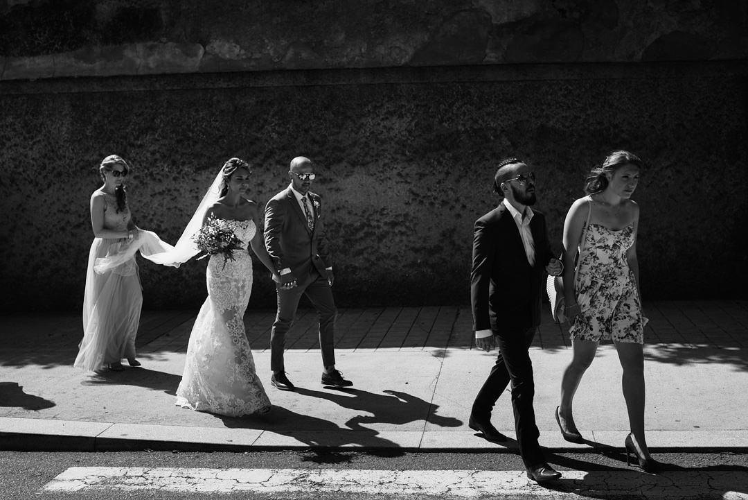bridal party in porto