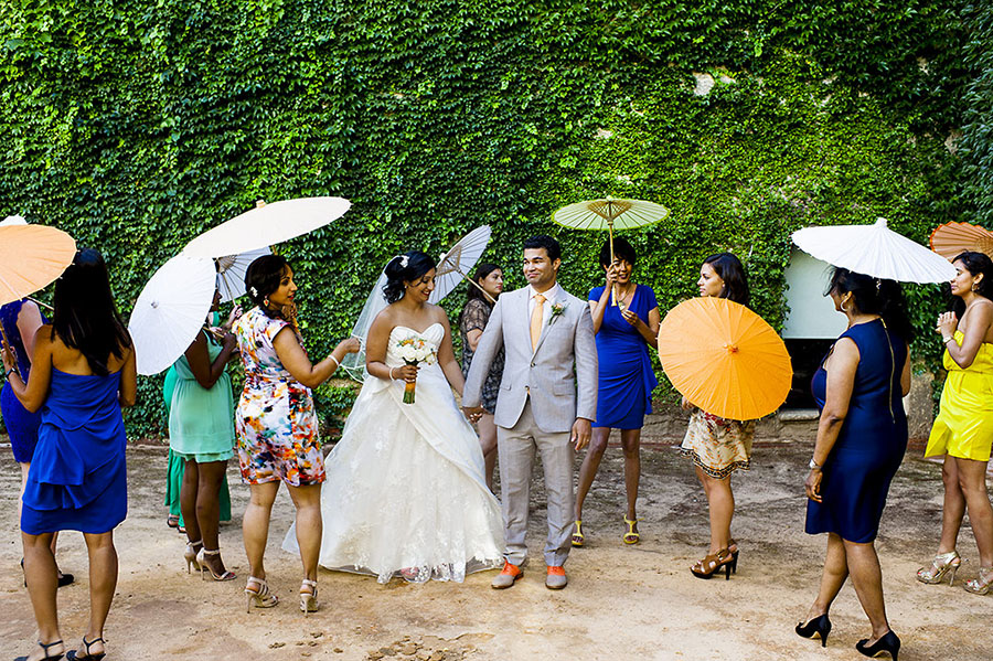 colorful destination wedding in portugal