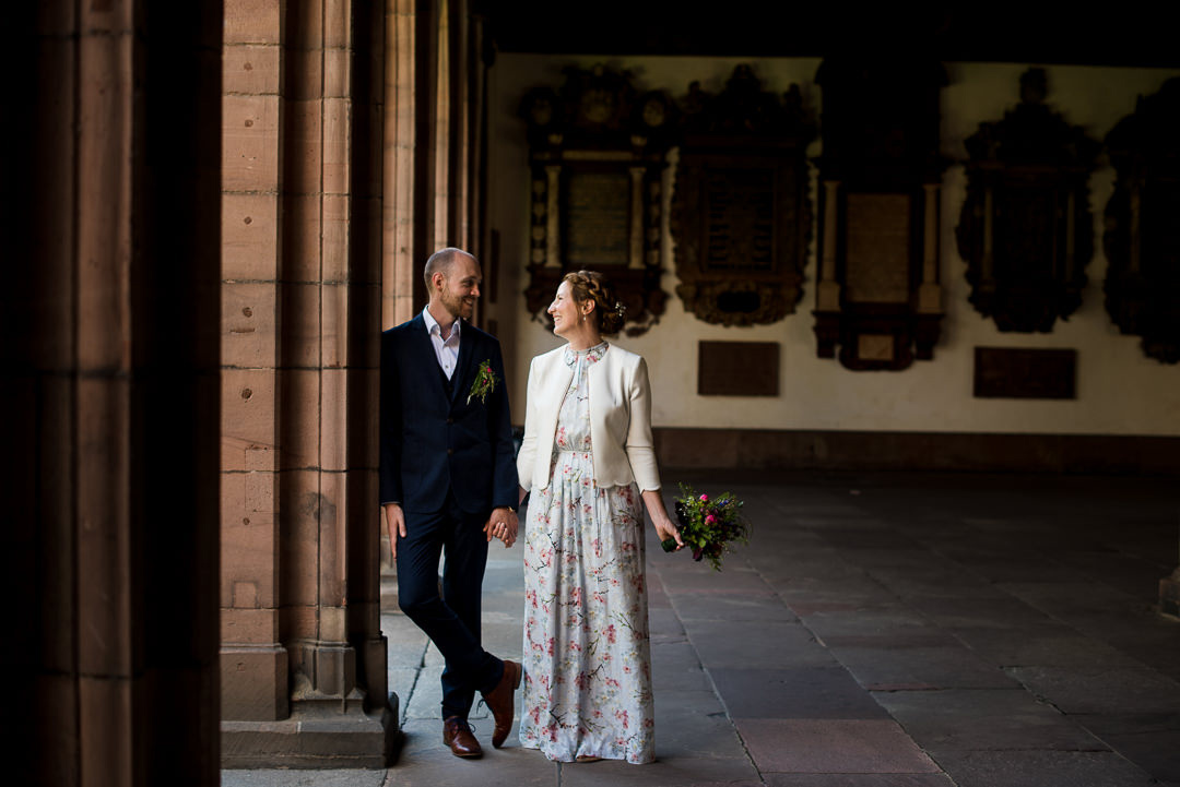 bride and groom in basel