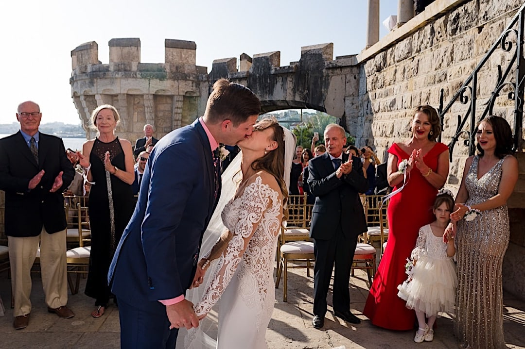 A wedding in XVII Century Fort in Lisbon, Portugal