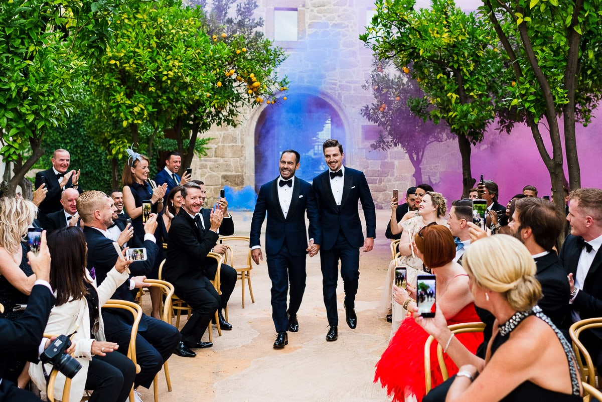 Same sex wedding in XII Century Monastery in Portugal