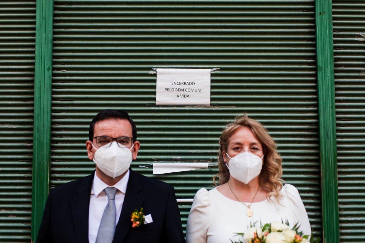 fotografias de casamento covid-19 no porto